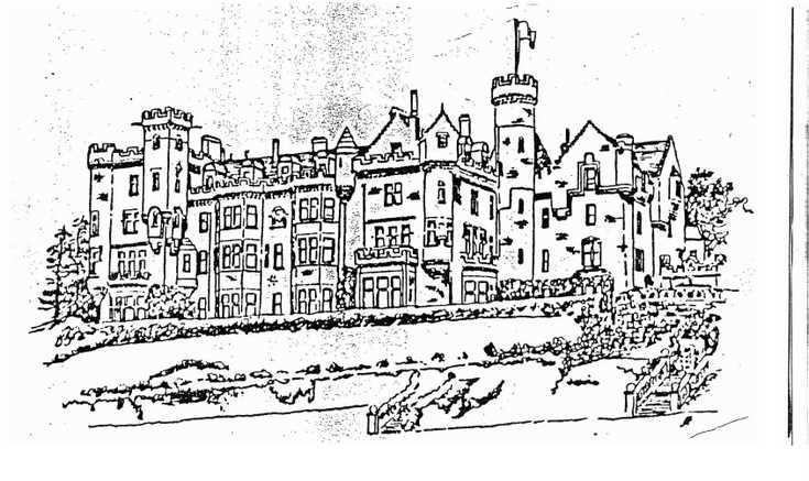 Sketch of Skibo Castle after remodelling