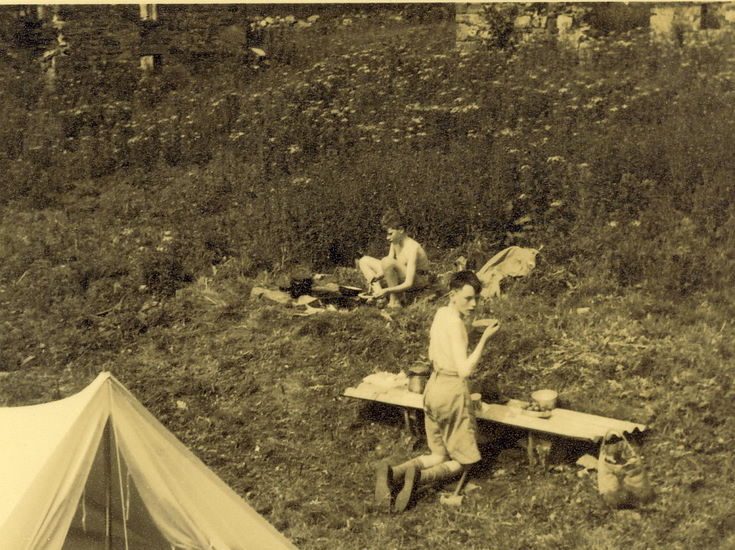 Scouts in camp