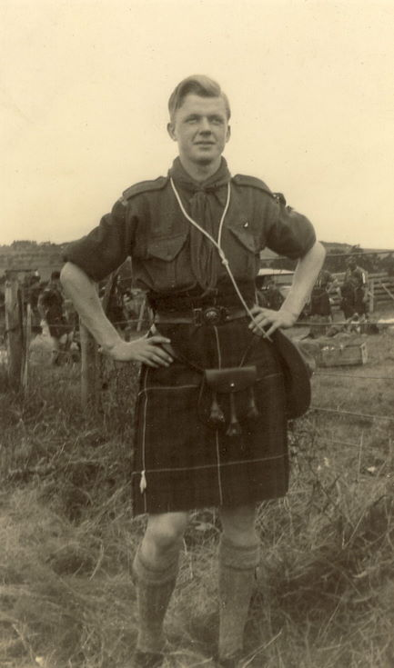John Robertson Skibo in full Scout uniform