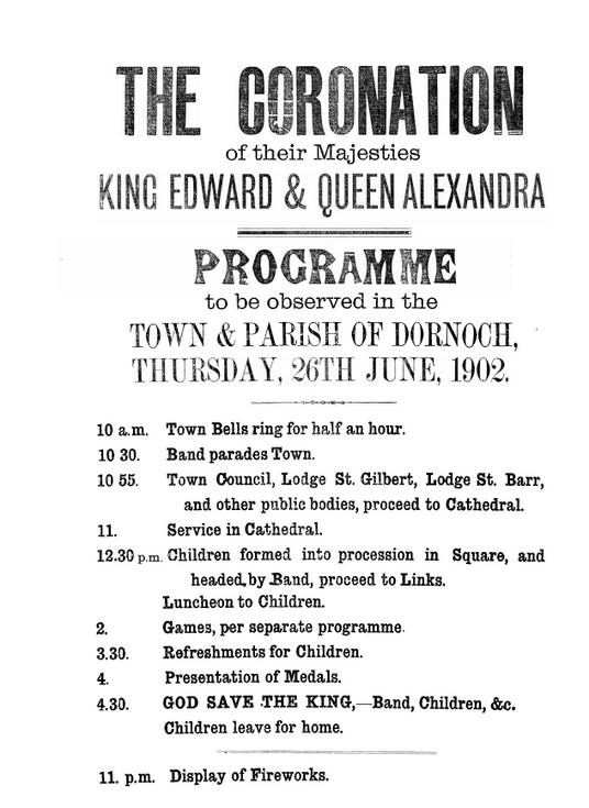 Poster - coronation of King Edward VII 1902