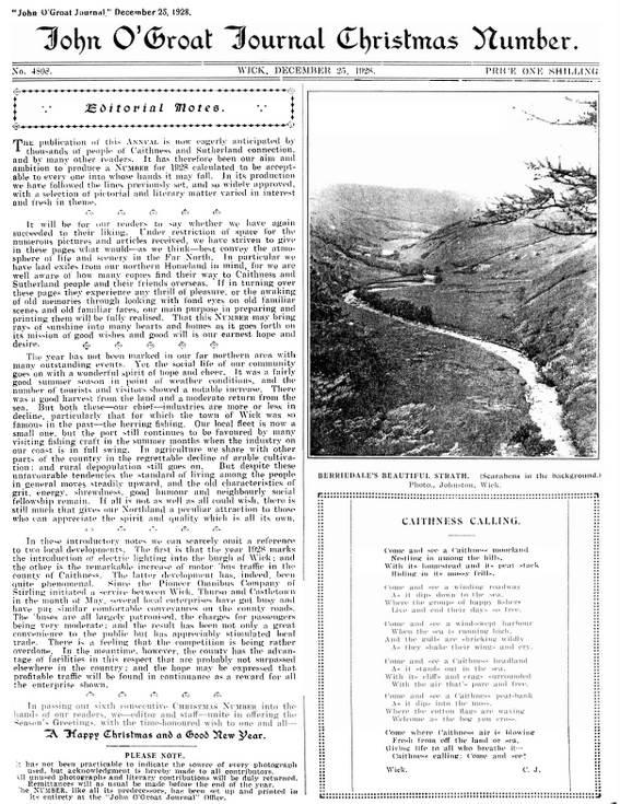 Dornoch Tercentenary 1928 and Suisgill Lodge Kildonan