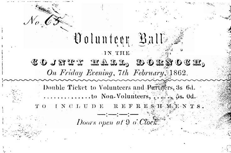 Ticket to Volunteer Ball 1862
