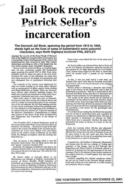 Dornoch Jail 1181