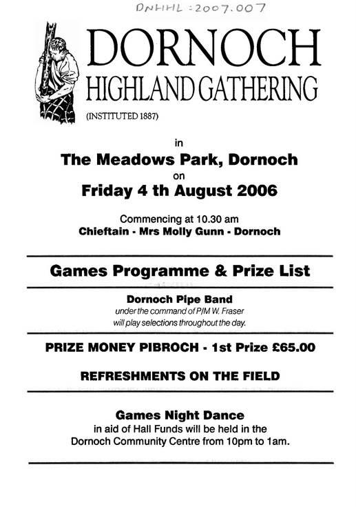 Dornoch Highland Gathering 2006