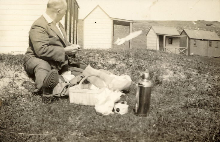 Thomas Hardie with a picnic