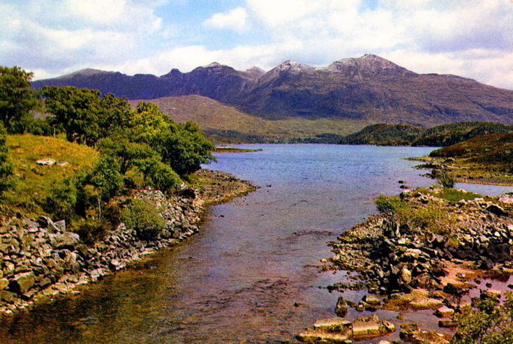 Quinag from the River Inver