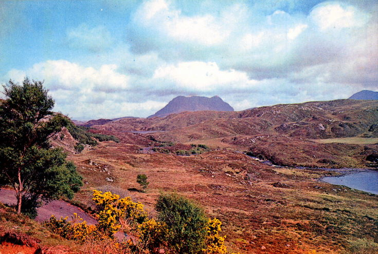 Coulmore from Lochinver Road, Sutherland