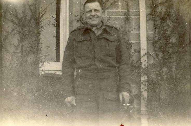 Man in soldier's uniform