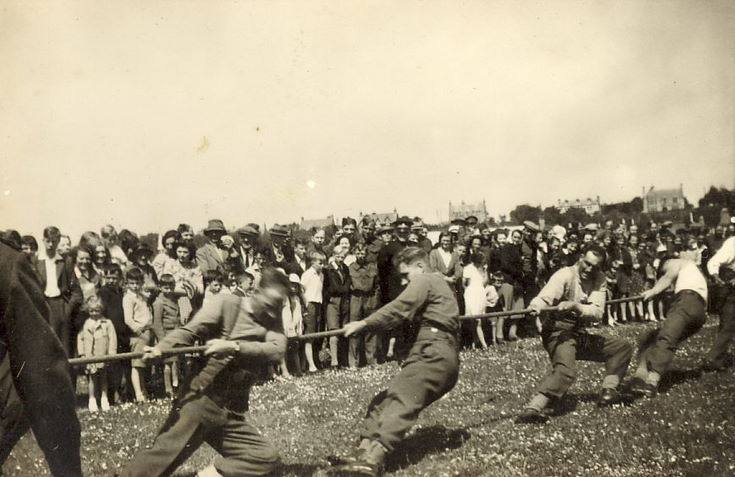 Group of Soldiers in a Tug-of-war