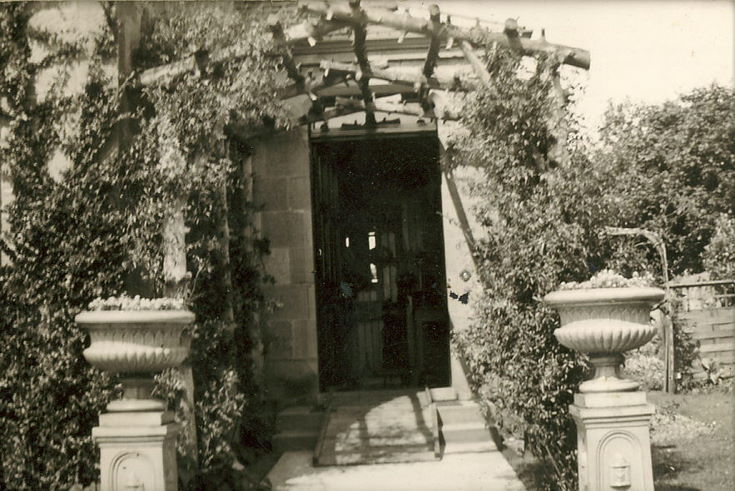 Trellis Arch at the entrance to