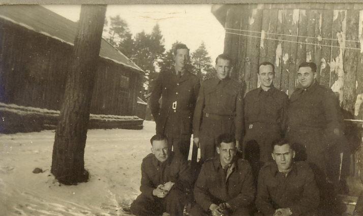 Seven Servicemen in Uniform