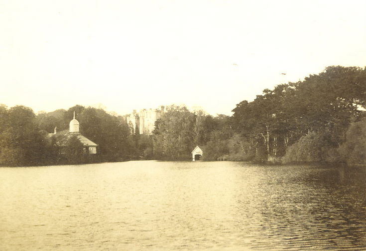 The Lake at Skibo, with the swimming pool and Castle in the background