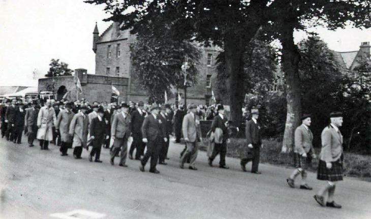 British Legion, Dornoch, Dedication of King's colours 1951