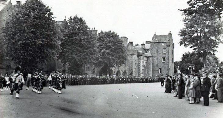Dedication of Dornoch Branch King's Colours 1951