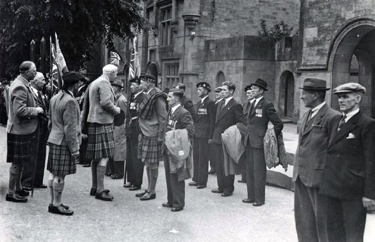 Parade inspection - dedication of King's Colours 1951