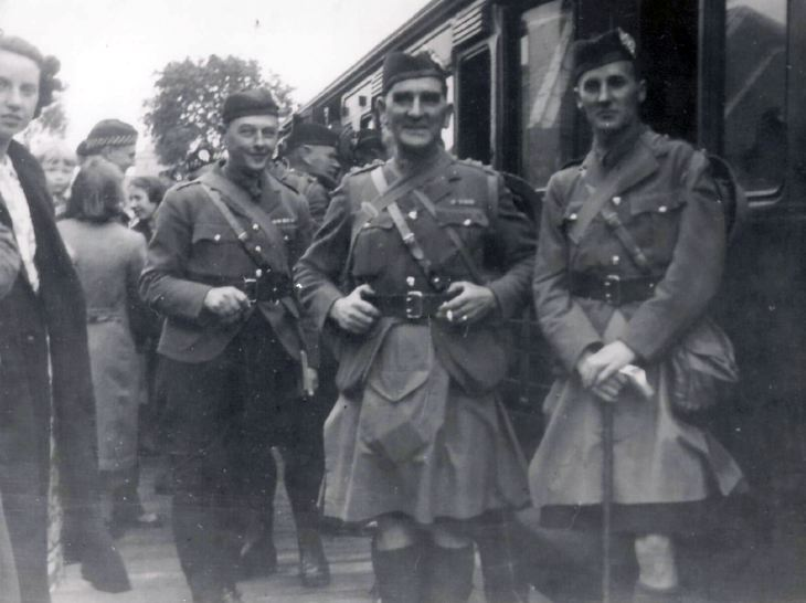 5th Seaforth Highlanders TA departing Dornoch Station