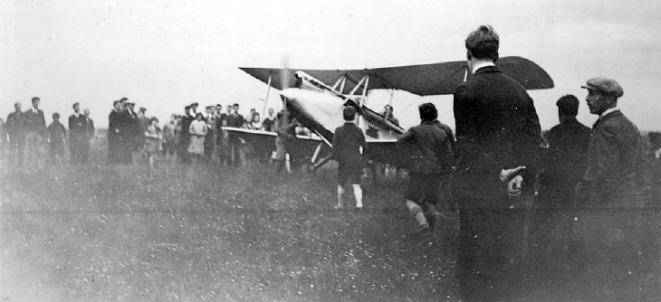 Aeroplane G-AAGR ~ landing or taking off