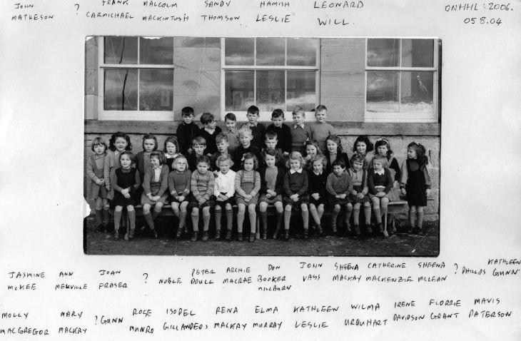Dornoch Academy c 1946