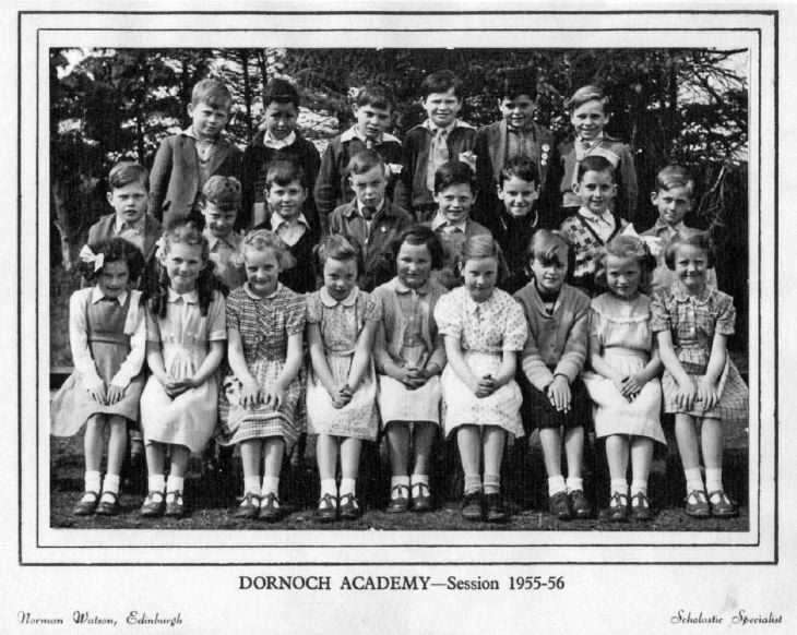 Dornoch Academy Session 1955 - 56