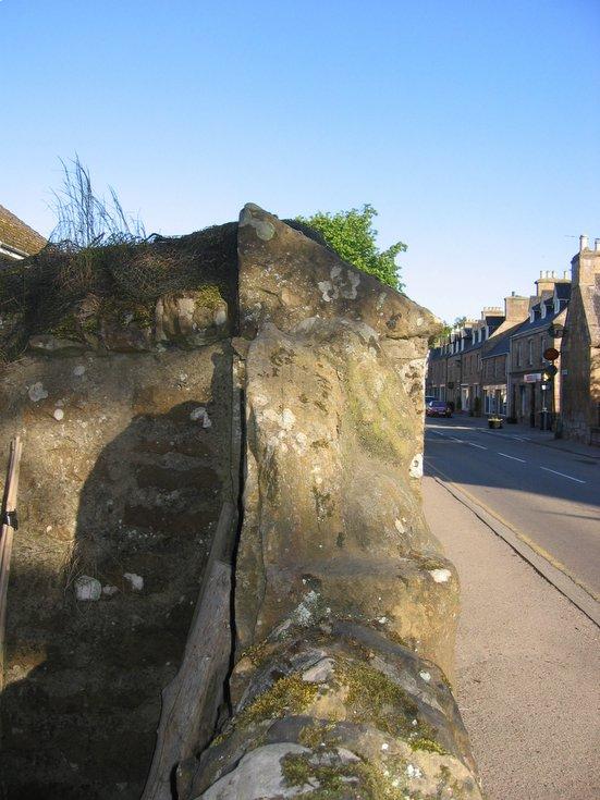 The Dornoch 'Imp' wall location in Castle Street