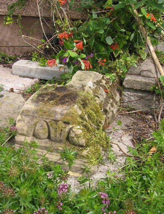 Re-use of stones in garden inEaglefield Road, Dornoch
