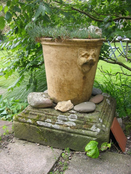 Re-use of Dornoch ruin stones - garden Eaglefield Rd Dornoch