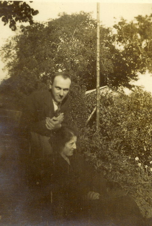 Man and Woman, in garden