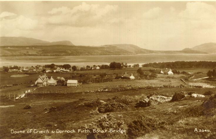 Doune of Criech & Dornoch Firth, Bonar Bridge