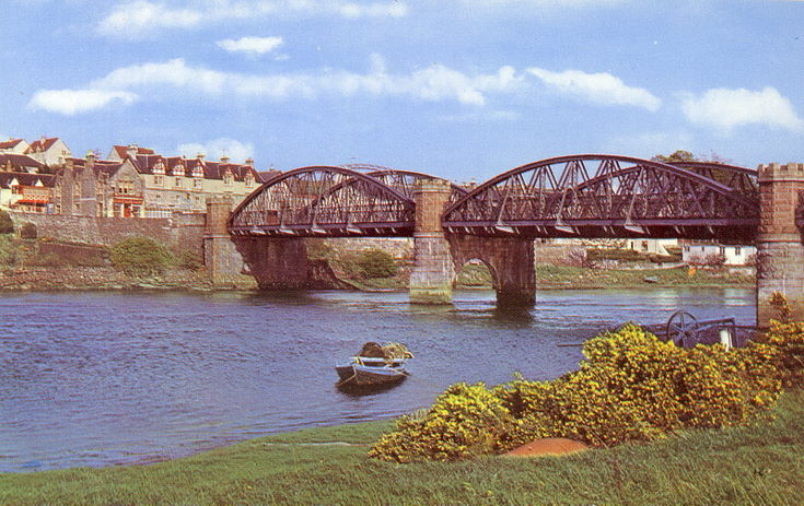The three span, second bridge built at Bonar Bridge