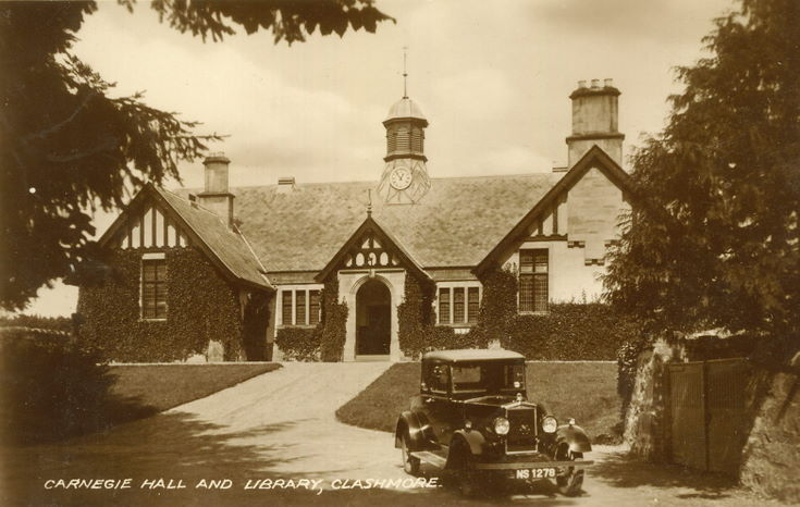 Carnegie Hall and Library Clashmore c 1930
