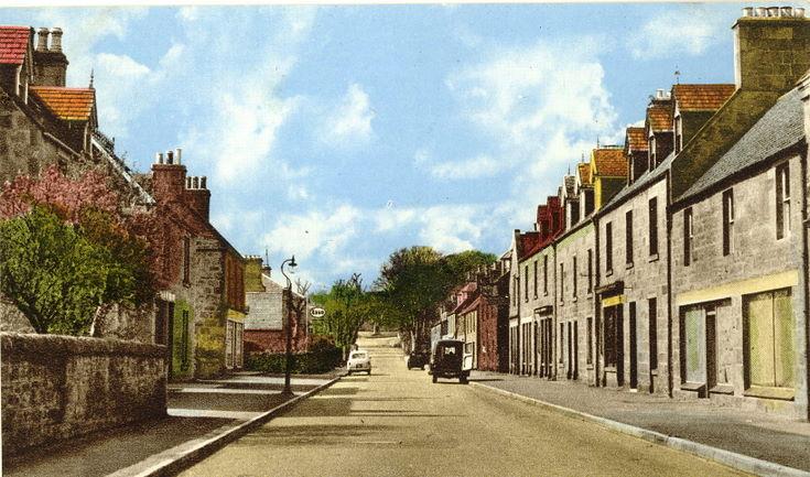Castle Street, Dornoch looking west