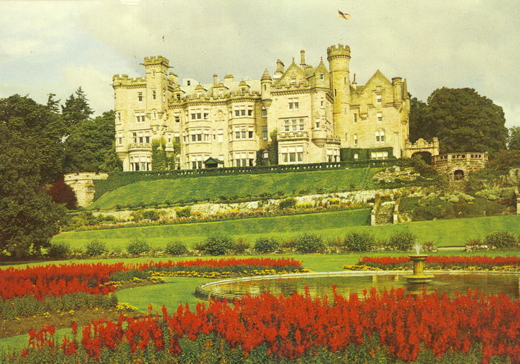Skibo Castle and gardens in colour