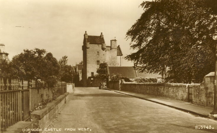 Dornoch Castle from west
