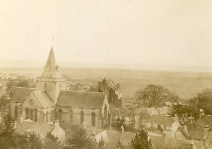 Dornoch Cathedral from the area of the Burghfield hotel
