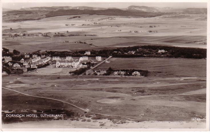 Dornoch Hotel ~ Aerial view