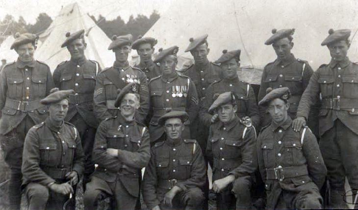 Kenny Macrae's family - Seaforth Highlanders group