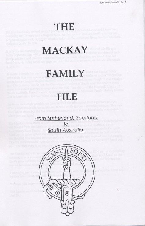 Descendants of William Mackay of Farr
