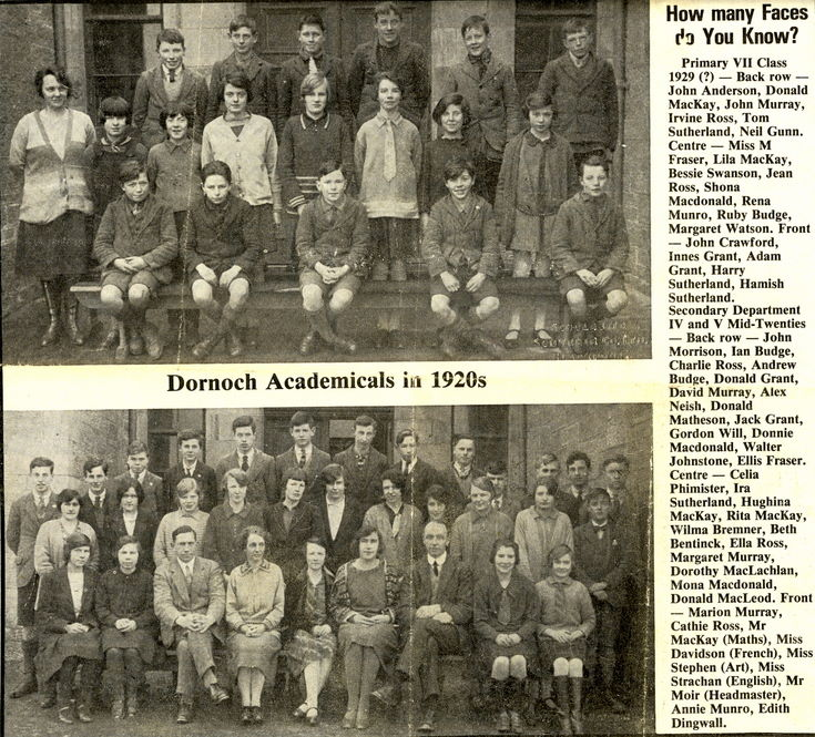 Newspaper cutting of 'Dornoch Academicals in 1920s'