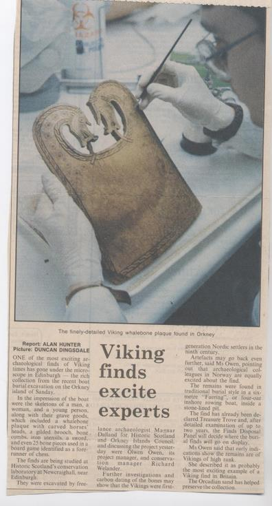 Orkney boat burial finds