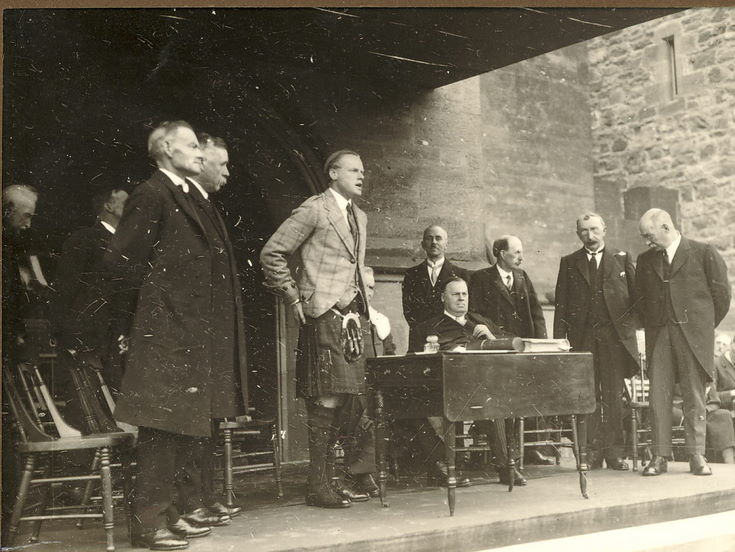 Freedom of Burgh 1928  - Duke of Sutherland speaking