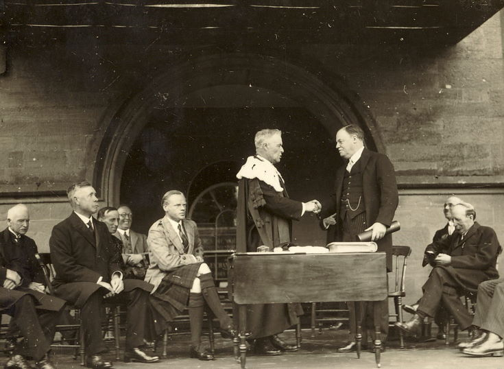 Viscount Rothermere receiving the Freedom of Burgh 1928