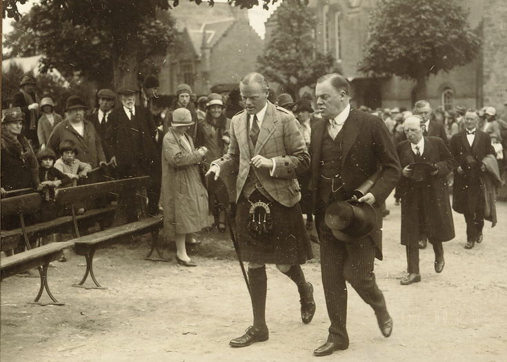 Duke of Sutherland at Freedom of Burgh Ceremony 1928
