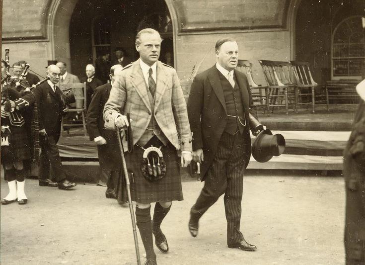 Duke of Sutherland following Freedom Ceremony 1928