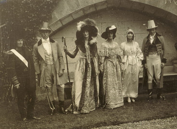 Elegant costurmes - group of six - Dornoch Pageant 1928