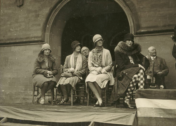 Ladies on dias Freedom of Burgh Ceremony 1928