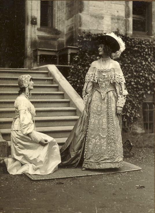 Ladies' elegant costumes Dornoch Pageant 1928