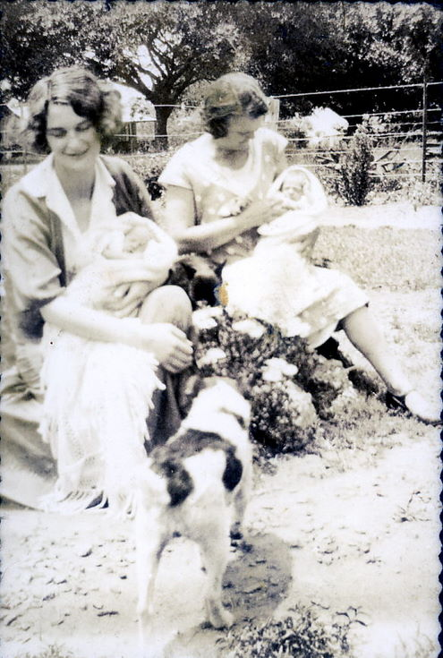 Mrs. Green, Ruby (Hardie), and the twins ~ Pinetown (Natal)