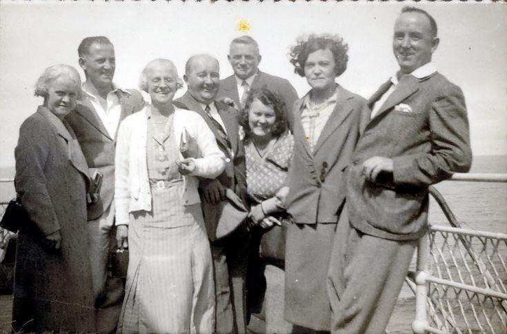 T. Fraser, Mr. Lewis, Ruby (Hardie), Miss Specks ~ on board RMS Armadale Castle