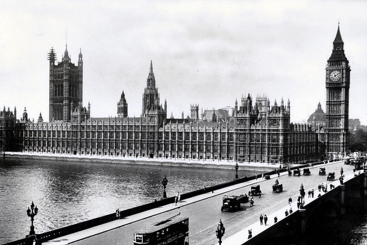 Houses of Parliament, and Westminster Bridge