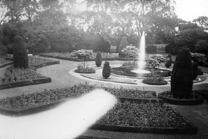 Fountain in a formal garden